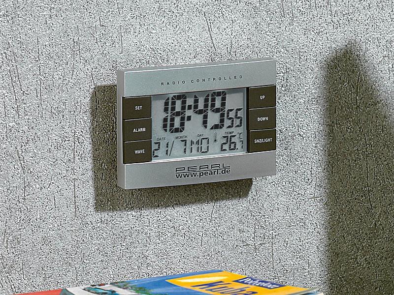 neu funkwecker digital temperatur kalender funkuhr. Black Bedroom Furniture Sets. Home Design Ideas