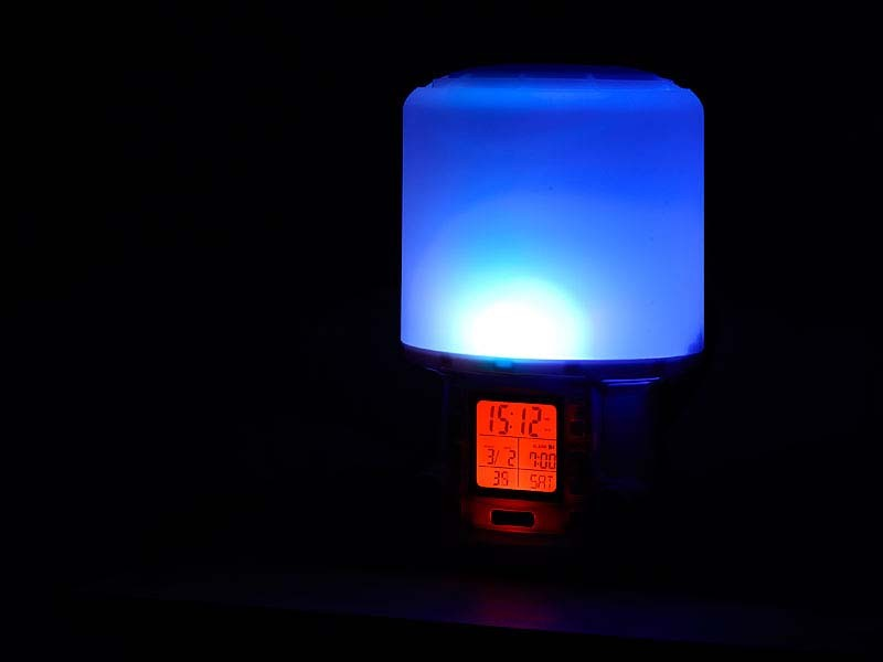 lichtwecker sonnenaufgang sunrise wecker radiowecker mit naturkl ngen therapie ebay. Black Bedroom Furniture Sets. Home Design Ideas
