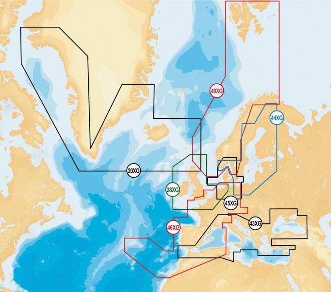 Navionics Gold XL9 Europa Übersicht